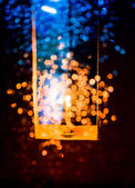 Candle light in Christmas — Stock Photo