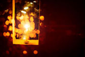 Levande ljus i jul — Stockfoto