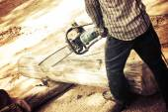 Saw blade for cutting timber — Stok fotoğraf