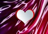 Heart shape on silk  — Foto de Stock