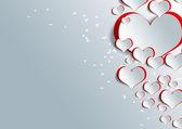 Forma de coração em papel artesanal — Fotografia Stock