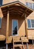 New home construction porch — Stock Photo
