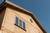 New home construction panel — Stock Photo