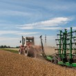Tractor field road cultivator — Stock Photo #58545085