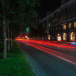 Night city traffic lights — Stock Photo #58862623