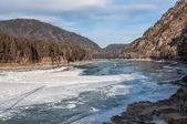 Rzeki górskie lodu — Zdjęcie stockowe