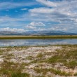 Lake steppe sky mountains clouds  — Stock Photo #59441589