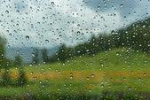 Water drops window rain car — Stock Photo