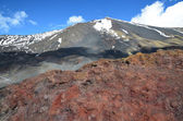 Volcanic rock on the mount Etna — Stock Photo