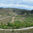 Panoramic spring view of the Spanish region Aragon — Stock Photo #54376609