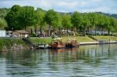 Famous gabares on the river Dordogne — Stock Photo