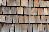 Close-up of the wood shingle roof — Stock Photo