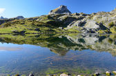 Mountain lake Roumassot — Stock Photo