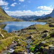 Lake Gentau in the Bearn Pyrenees — Stock Photo #56714553