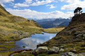 Alpine lake Lac du Miey — Foto de Stock