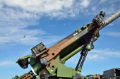 Zbliżenie: nowoczesnej broni przeciwlotniczej — Zdjęcie stockowe