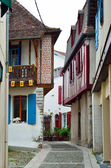 Ancient French town Salies de Bearn — Stock Photo