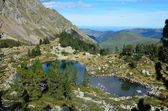 Mountain lake in the Hautes Pyrenees — Stock Photo