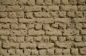 Ancient Egyptian mudbrick wall — Stock Photo
