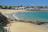 Sandy beach in the bay of Ciboure — Foto Stock