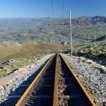 Rack railroad in the mountain — Stock Photo #70373545