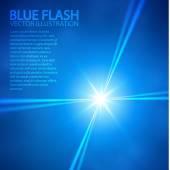 Blue star and spotlights. Vector illustration — Stock Vector