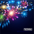 Holiday fireworks background — Stock Vector #58998105