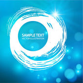 Blue swirl background — Stock Vector
