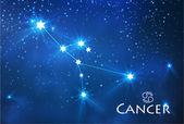 Cancer zodiac sign — Stock Vector
