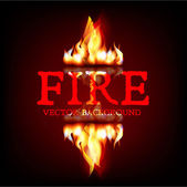 Fire flames background — Stock Vector
