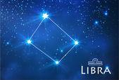 Libra zodiac sign — Stock Vector