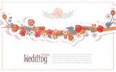 Bruiloft bloemen achtergrond — Stockvector