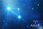 Aries zodiac sign — Stock Vector