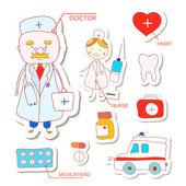 Nurse and doctor background — Stockvektor
