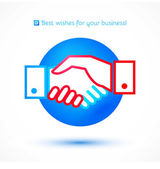 Business Handshake icon — Stock Vector