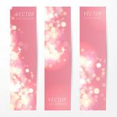 Abstract bokeh banners set — Stock Vector
