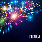 Holiday fireworks background — Stock Vector