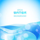 Blaue wasser-hintergrund — Stockvektor