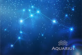 Aquarius zodiac sign — Stock Vector