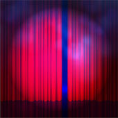 Stage curtain background — Stock Vector