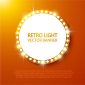 Retro light background — Stock Vector