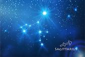 Sagittarius zodiac sign — Stock Vector