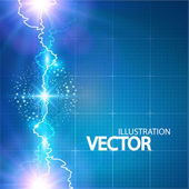 Electric lighting background — Stock Vector