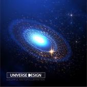 空间蓝色背景 — 图库矢量图片