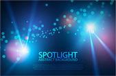 Blue concert spotlights — Stock Vector