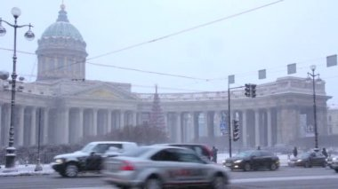 Kazan Cathedral in winter. St Petersburg. Russia..eps — Vidéo