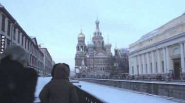 Church of the Savior on the Spilled Blood. St. Petersburg. Russia. — Stock Video