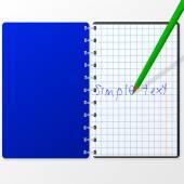 Note book — Vetor de Stock