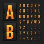 Scoreboard letters and symbols alphabet panel — Stock Vector #53334619