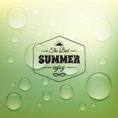 Retro summer label — Stock Vector